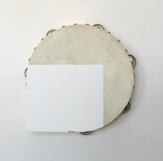 Acrylic paint on tambourine, bass wood 29.5 x 28 x 4.5cm 11 1/2 x 11 x 1 3/4 ins Courtesy Stuart Shave/Modern Art, London