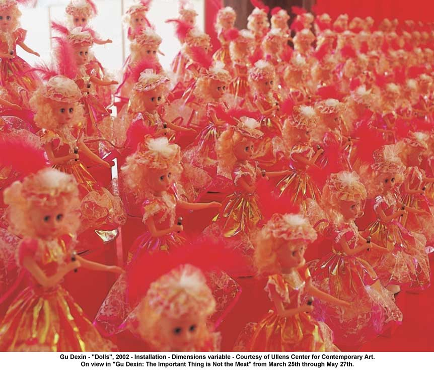 "artwork: Gu Dexin - ""Dolls"", 2002 - Installation - Dimensions variable - Courtesy of Ullens Center for Contemporary Art. On view in ""Gu Dexin: The Important Thing is Not the Meat"" from March 25th through May 27th."