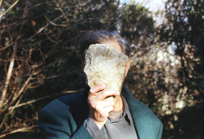 Jimmie Durham - Self-Portrait Pretending a Stone Statue of Myself