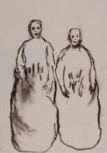 Juan Muñoz Untitled1991-1996 oil stick on paper