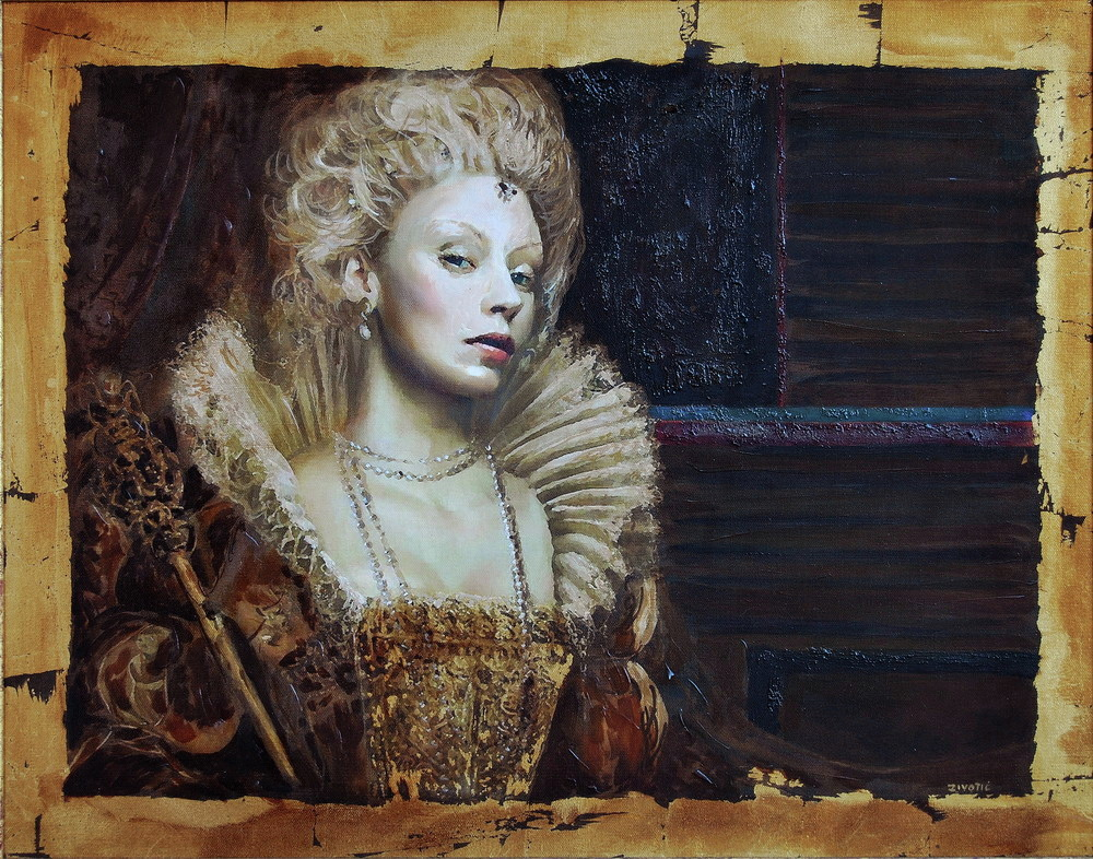 zoran zivotic - oil painting - nove - Baroness