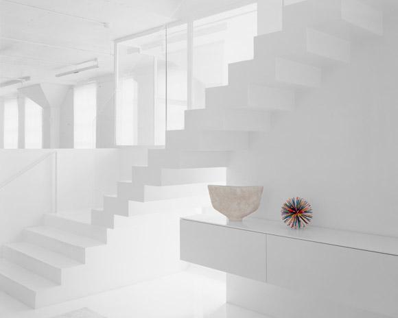 Adam Schreiber, Untitled (stairwell), 2012. Chromogenic print, 40 x 50 inches.