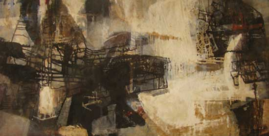 Raúl Martínez. Untitled, 1957. Oil on canvas, 48 x 85 inches