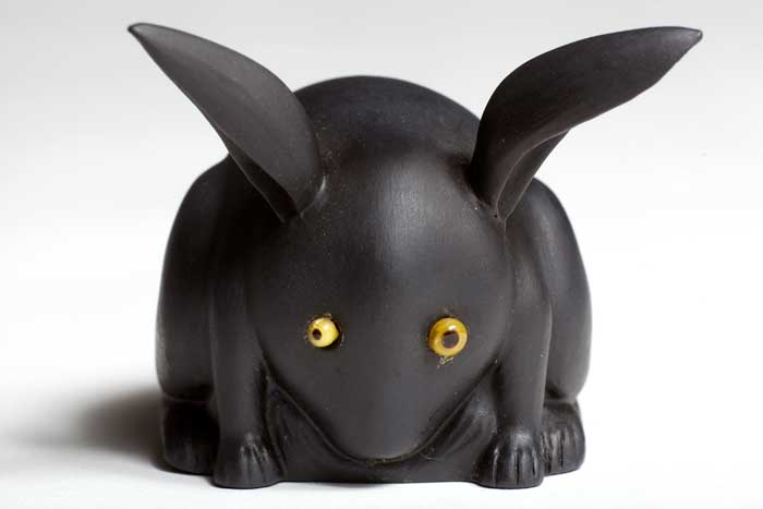 Hare today, gone tomorrow: a black basalt rabbit by Sheldon, around 1911, from the Wedgwood Museum's collection. Photo: © Art Fund, by Phil Sayer