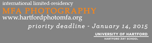 Hartford Art School Call for applications: MFA in Photography Application deadline: January 14, 2015
