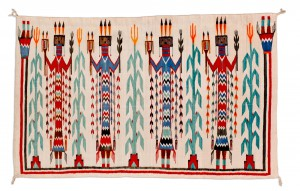 Shiprock Yei Navajo Textile, 1925-1930, 43 inches x 67 inches;