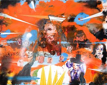 Brad Kahlhamer, Je Suis Orange! Mozart (I am Orange! Mozart), 2009. Oil on canvas, 51 x 64 inches.