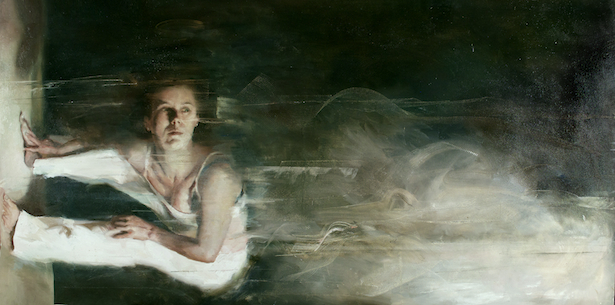 Britt Snyder, Depth. Oil on panel, 48 x 24 inches.