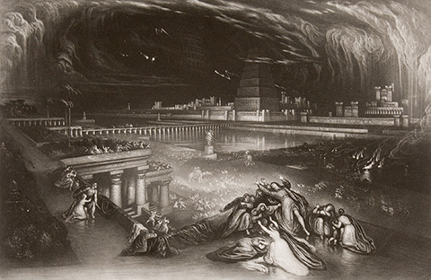 John Martin. The Fall of Babylon, from Illustrations of the Bible, 1835. John H. Wrenn Memorial Endowment.