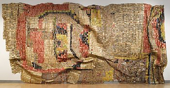 El Anatsui's Earth's Skin (2007), in the collection of the Guggenheim Abu Dhabi.  GUGGENHEIM ABU DHABI
